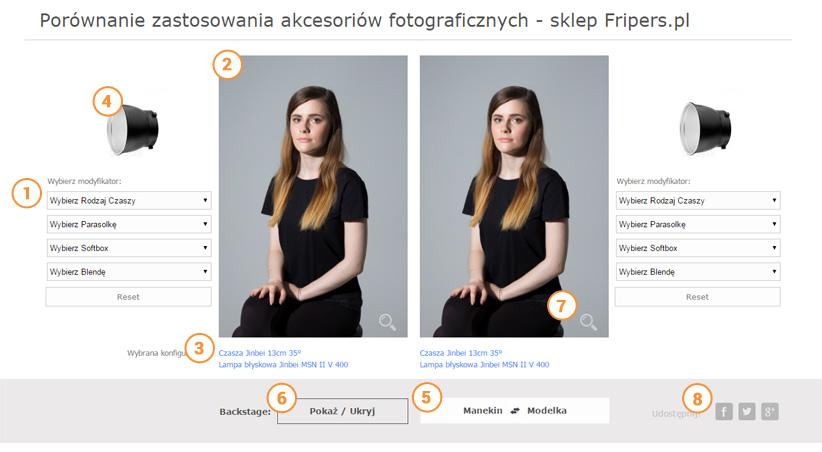 Porównaj akcesoria fotograficzne - instrukcja