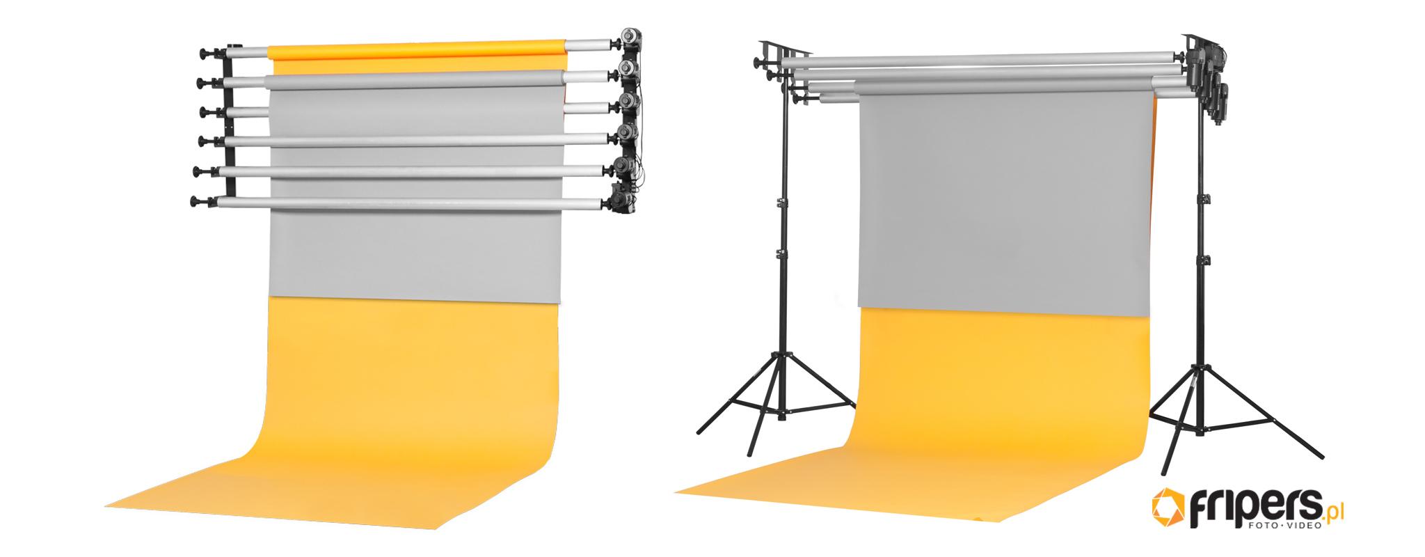 systemy zawieszania teł fotograficznych