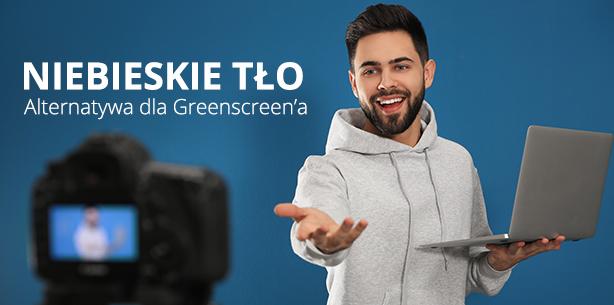 Niebieskie tło fotograficzne, czyli tak zwany blue screen. Alternatywa dla zielonego tła?