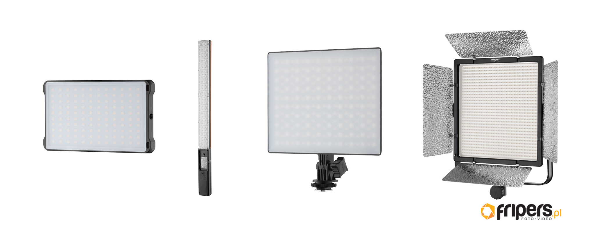 Lampy LED w video i fotografii - panele LED