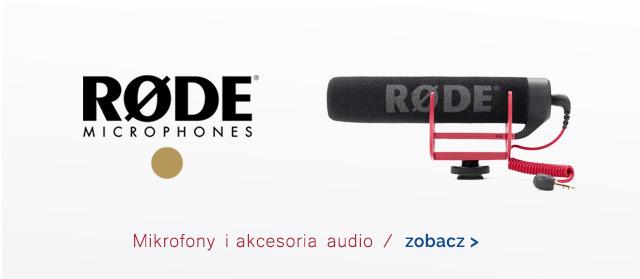 RODE - mikrofony i akcesoria audio / Zobacz >