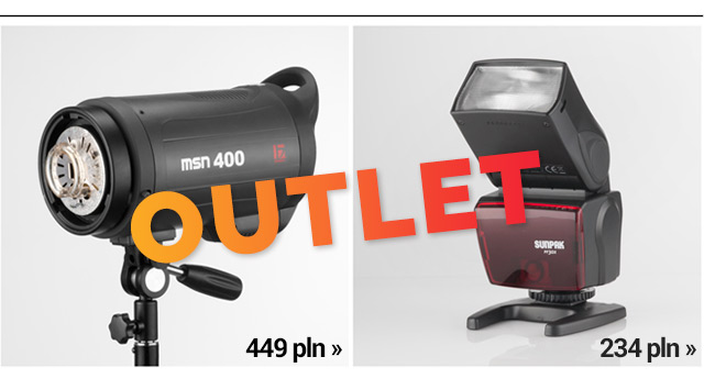 OUTLET: Lampa studyjna MSN 400 / lampa reporterska SUNPACK / czytaj >