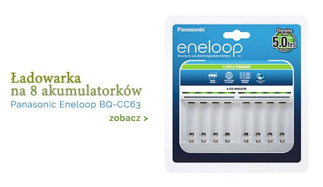 Ładowarka eneloop na 8 akumulatorków / zobacz >