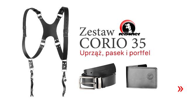 Zestaw reporterski CORIO: Uprząż, pasek i portel / Zobacz >