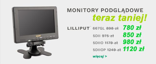 Monitory podglądowe Lilliput PROMOCJA / zobacz >