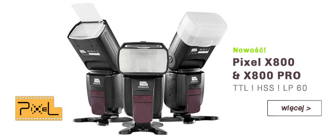 Lampy reporterskie PIXEL X800 i X800 PRO / więcej >