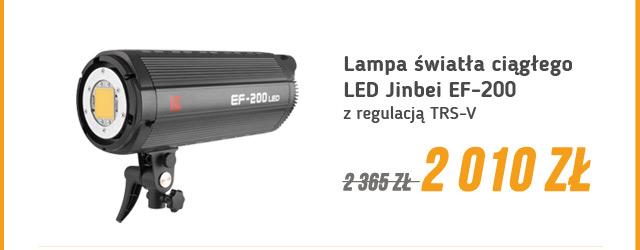 Lampa LED Jinbei EF-200 w Promocji / zobacz >