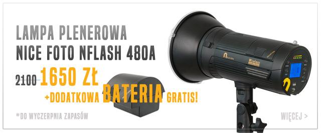Plenerowa lampa błyskowa nFLASH + bateria gratis / weź ostatnią!