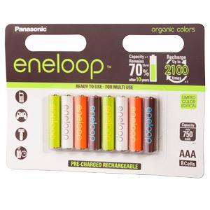 Kolorowe akumulatorki Eneloop seria Organic / zobacz >