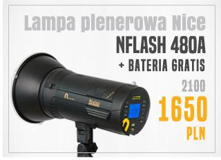 Lampa plenerowa nFlash + bateria gratis / zobacz >