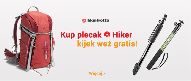 Manfrotto promocja - plecak plus kijek gratis! / zobacz >
