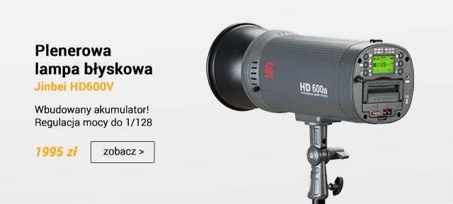Plenerowa lampa blsykowa z odbiornikiem Jinbei HD600 / zobacz >