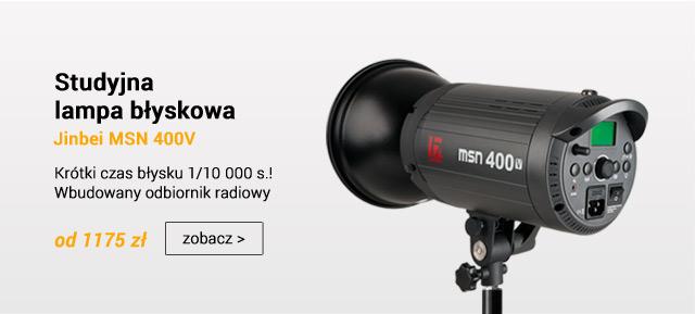Studyjna lampa błyskowa z odbiornikiem Jinbei MSN V / zobacz >