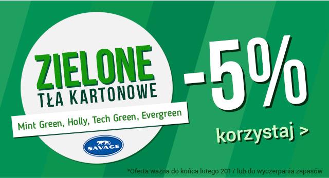 Zielone tła Savage teraz 5% taniej! / korzystaj >
