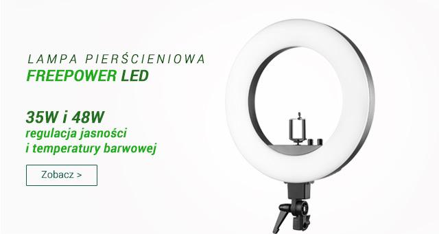 Lampa pierścieniowa LED Freepower / zobacz >