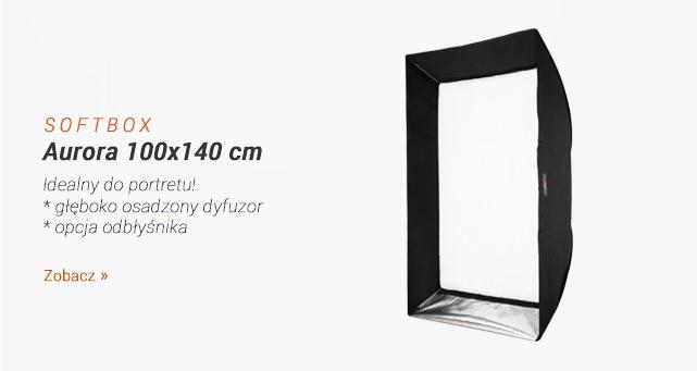 Softbox z głeboko osadzonym dyfuzorem - Aurora 100x140 cm / Zobacz >