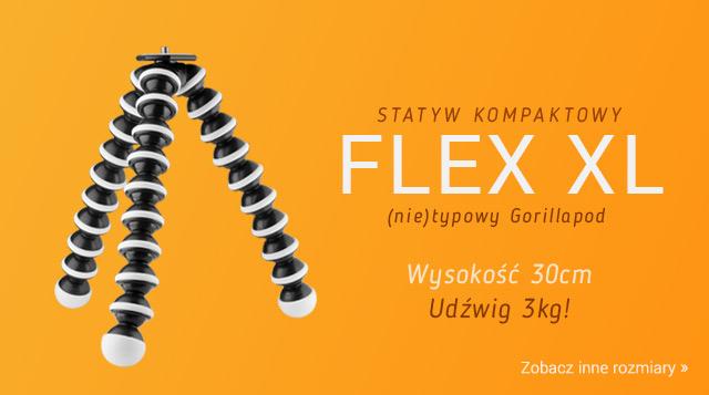Statywy kompaktowe typu GorillaPod - rozmiar XL! / Zobacz >