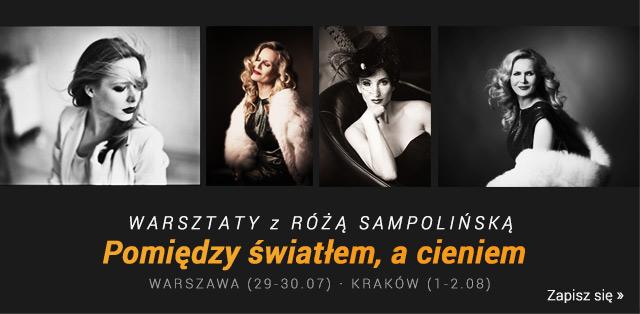 Warsztaty oświetlenia portretowego Pomiędzy Światłem, a Cieniem z Różą Sampolińską / Zapisz się >
