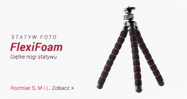 Kompaktowy statyw fotograficzny z giętkimi nogami FLEXI FOAM / Zobacz >