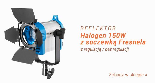 Reflektor halogenowy z soczewską Fresnela 150W / Zobacz >
