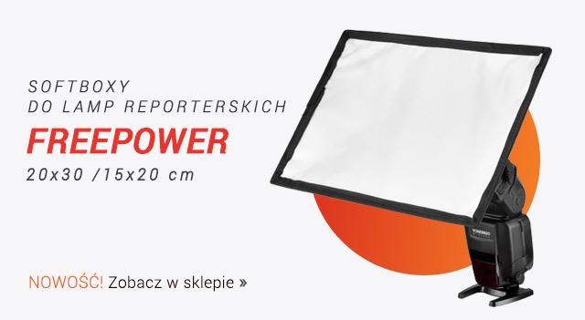 Softboxy reporterskie FREEPOWER / Zobacz >