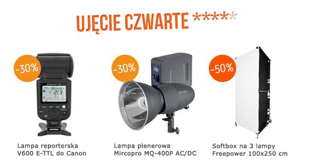 Lampa reporterska Voeloon / Lampa plenerowa AC/DC Mircopro / Softbox na 3 lampy 100x250 cm / Zobacz >