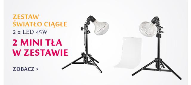 Zestaw światła ciągłego w x LED 45W + 2 mini tła / Zobacz >