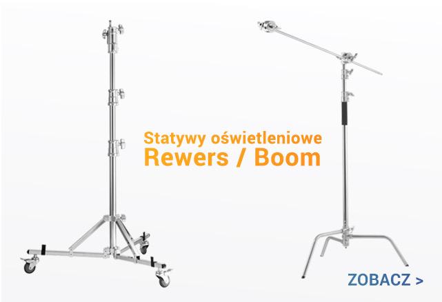 Statywy oświetleniowe JINBEI C-stand REWERS i BOOM / zobacz >