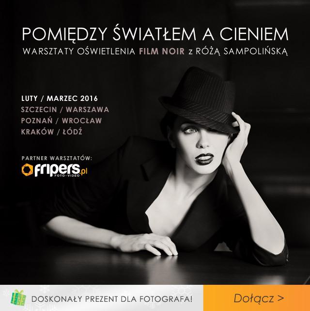 Warsztaty oświetlenia Film Noir z Różą Sampolińską zobacz