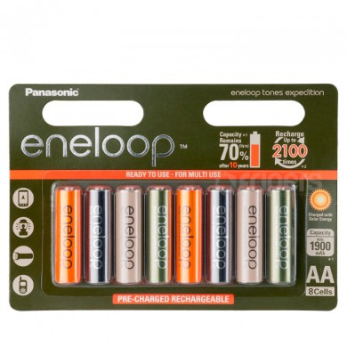 Akumulatorki Panasonic Eneloop Expedition 2000mA 8x R6/AA