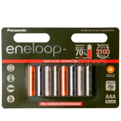 Akumulatorki Panasonic Eneloop Expedition 800mA 8x R3/AAA