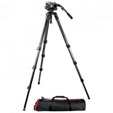 Statyw Video Manfrotto 504HD,535K karbonowy, z głowicą 504HD
