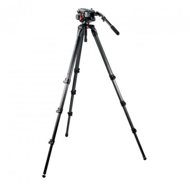 Statyw Video Manfrotto 504HD,536K karbonowy, z głowicą 504HD
